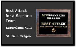 Bad Karma receives Best Attack for a Scenario Team at SuperGame XLIII