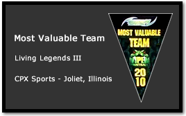 Bad Karma receives Most Valuable Team at Living Legends III