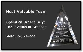 Bad Karma receives Most Valuable Team at Operation Urgent Fury - The Invasion of Grenada